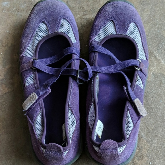 Lands' End Other - Lands End purple Mary Janes